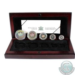 2003 Canada Hologram 5-Coin Silver Maple Leaf Set (TAX Exempt). Please note the outer box is not inc