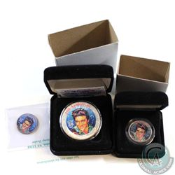 2002 United States 25th Anniversary of Elvis Presley Coloured Coin Collection. You will receive 2x 2