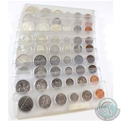 1941, 1953, 1962, 1964, 1965, 1966, 1967, 1970 & 1982 Canada 6-Coin Year Sets in hard plastic holder