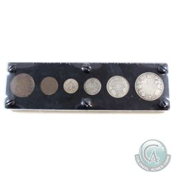 1920 Canada 6-Coin Set in hard plastic holder. Includes a 50-cent, 25-cent, 10-cent, 5-cent , Small