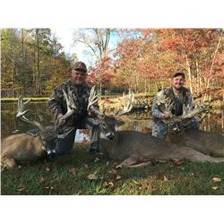 3 Days / 4 Nights Trophy Whitetail Deer Hunt at Ohio for 2 Hunters.