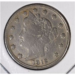 1912-S LIBERTY NICKEL  ABOUT VF