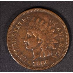 1866 INDIAN HEAD CENT  XF+