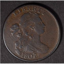 1807/6 DRAPED BUST LARGE CENT  VF