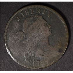 1797 DRAPED BUST LARGE CENT  FINE