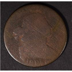 "1801 DRAPED BUST LARGE CENT ""3"" ERRORS REVERSE!"