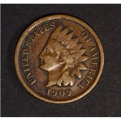 1909-S INDIAN HEAD CENT VG/FINE