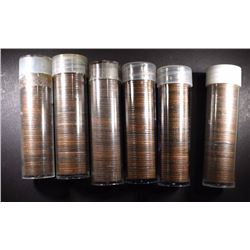 6-ROLLS CANADA CENTS: 1920-36