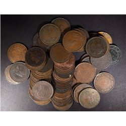 50-CANADA LARGE CENTS, VARIOUS DATE
