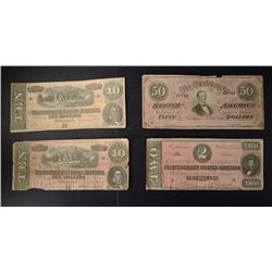 NICE CIRC CONFEDERATE NOTE LOT