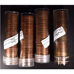 1954-S, 55-S & 2-55-D BU LINCOLN CENT ROLLS