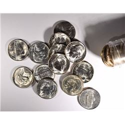BU ROLL OF 1943-S SILVER JEFFERSON NICKELS