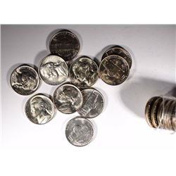 BU ROLL OF 1944-D SILVER JEFFERSON NICKELS