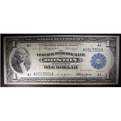 1918 $1 National Currency Note, Federal Reserve Ba