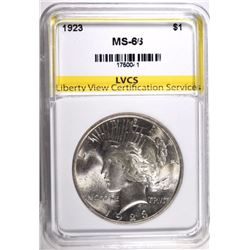 1923 PEACE DOLLAR LVCS SUPERB GEM BU