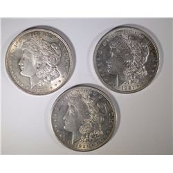 3 - 1921 BU MORGAN DOLLARS - NICE