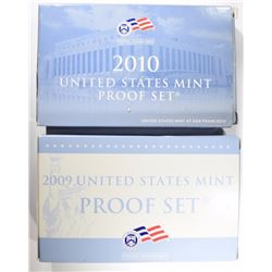 2009 & 2010  PROOF SETS IN ORIG BOX/COA