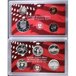 1999 SILVER PROOF SET IN NICE ORIG BOX/COA