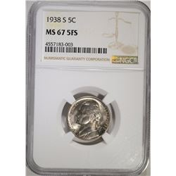1938-S JEFFERSON NICKEL NGC MS-67 FS