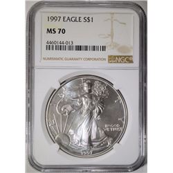 1997 AMERICAN SILVER EAGLE NGC MS-70