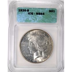 1926-S PEACE DOLLAR ICG MS-65