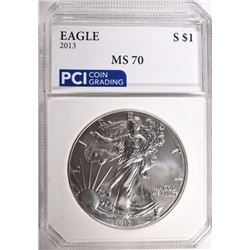 2013 AMERICAN SILVER EAGLE PCI PERFECT GEM BU