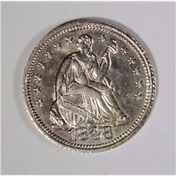 1848 SEATED LIBERTY HALF DIME LARGE DATE