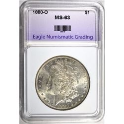 1880-O MORGAN DOLLAR - ENG CHOICE BU