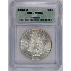 1883-O MORGAN DOLLAR, ICG MS-64