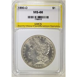 1890-O MORGAN DOLLAR, LVCS SUPERB GEM BU