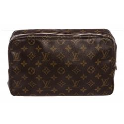 Louis Vuitton Monogram Canvas Leather Toiletry GM Pouch Bag