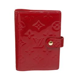 Louis Vuitton Red Vernis Monogram Leather Small Agenda Cover