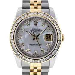 Rolex Two-Tone 2.30 ctw Diamond DateJust Men's Watch