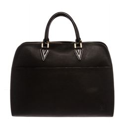Louis Vuitton Black Epi Leather Sorbonne Briefcase Bag