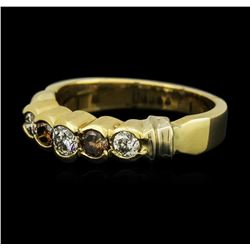 14KT Yellow Gold 0.58 ctw Diamond Ring
