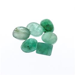 7.27 cts. Oval Cut Natural Emerald Parcel