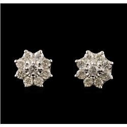 14KT White Gold 1.78 ctw Diamond Earrings
