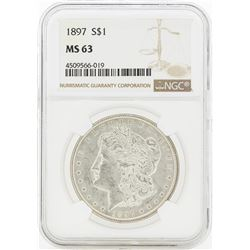 1897 MS63 NGC Morgan Silver Dollar