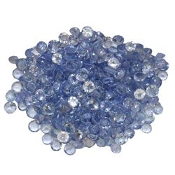 16.57 ctw Round Mixed Tanzanite Parcel