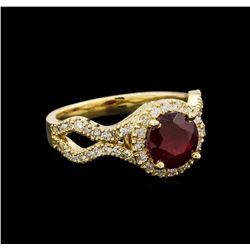 14KT Yellow Gold 1.94 ctw Ruby and Diamond Ring