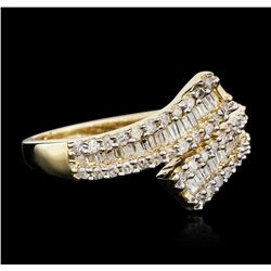 10KT Yellow Gold 0.50 ctw Diamond Ring