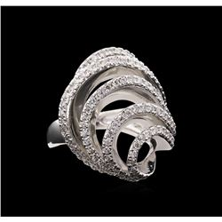 1.11 ctw Diamond Ring - 14KT White Gold