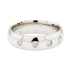 0.25 ctw Diamond Band - 14KT White Gold