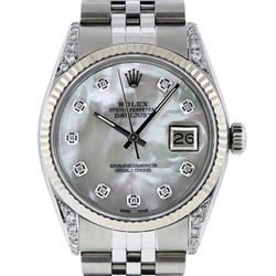 Rolex Stainless Steel Diamond Quickset DateJust Men's Watch
