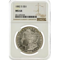 1882-S NGC MS64 Morgan Silver Dollar