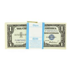 Original 1957 $1 Silver Certificate Pack of 100