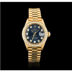 Rolex President 18KT Gold Diamond DateJust Ladies Watch