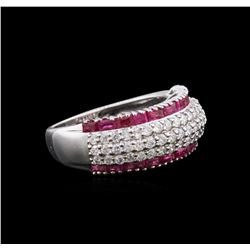 14KT White Gold 1.13 ctw Ruby and Diamond Ring