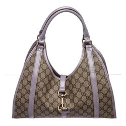 Gucci Beige Crystal Coated Canvas Joy Bardot Tote Bag