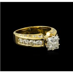 2.72 ctw Diamond Ring - 14KT Yellow Gold